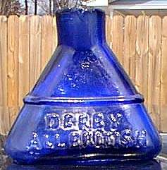 DERBY ALL BRITISH cobalt triangular