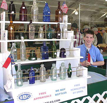 Eddie Kelly selling bottles at the Southeast table